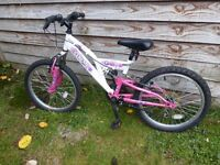 "Girls mountain bicycle with 20"" wheels"