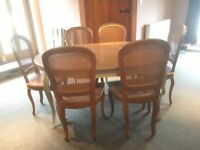 Laura Ashley extending Dining Table & Chairs