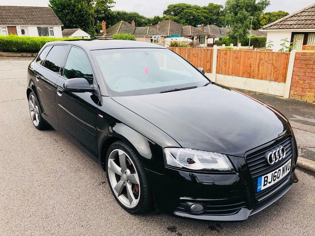 2010 AUDI A3 S-LINE BLACK SPECIAL EDITION TDI 5 DOOR WITH STOP/START