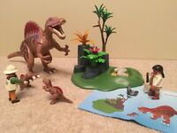 Playmobil dinosaurs. Seven playsets with instructions