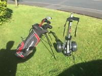 Boys Junior Golf Set - Clubs, Bag, Trolley, Balls