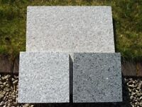 Natural Granite Paving / Patio Slabs - Mixed Pink & Grey - Unused