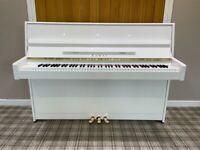 Kawai K15 Upright Piano, Polished White. STOOL INCLUDED