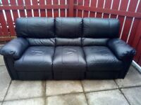 3 seater leather sofa has to be collected