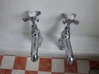 chrome wash hand basin taps for sale. £5 plus P&P