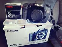 Canon EOS 7D 18.0MP Digital Camera With EF 50mm f/1.8 Mk II Lens + 2 Compact Flash Memory Card