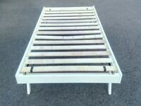White Wooden 3 ft Single Trundle Bed Guest Bed