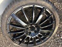 17 inch black alloy wheels, 5 stud
