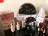 Mylee LED Lamp nail kit with 5 soak off polishes
