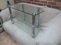GLASS TV STAND /or TABLE