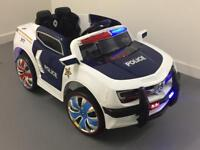 Police Car Kids Electric Ride On Car 12v, Lights And Sirens, Remote Control, Mp3 Player. Brand New