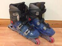 Size 5 inline skates (blue)