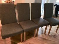 Barker & stonehouse grey dining chairs x 5