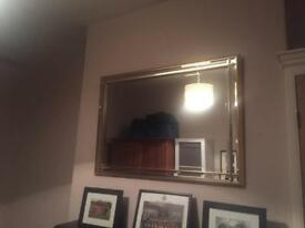 John Lewis Gold Mantle Mirror