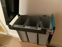 Kitchen base unit pull out bins