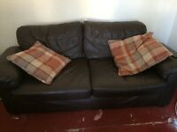 Brown 3 seater & 2 seater sofa