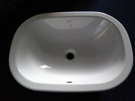modern counter top large bathroom basin.