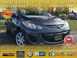 2014 Mazda MAZDA2 GX-$50/Wk-Hatch-CD/Mp3/AUX-Clean Carproof-Pwr