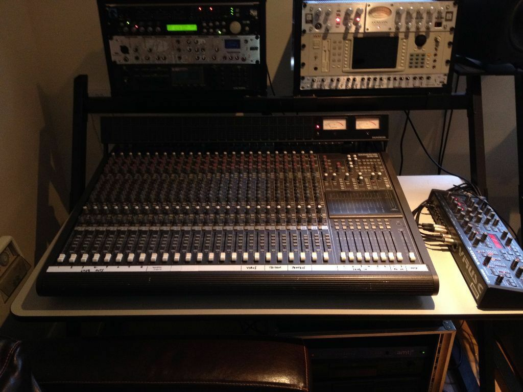 mackie 24 8 2 mixing desk for sale with meter bridge and power supply in fareham hampshire. Black Bedroom Furniture Sets. Home Design Ideas