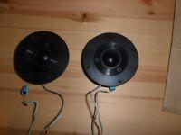 2 X SINUS ITT SPEAKERS TWEETERS 97mm.