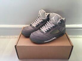 Worn UK7 Jordan 5 Wolf Grey £135 (Nike Supreme Air Max Jordan Bape Yeezy Kanye Adidas Kobe Huarache)