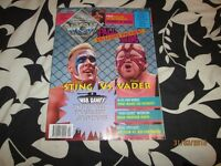 WCW OFFICIAL MAGAZINE OCTOBER 1993 STING AND VADER ON COVER have others for sale