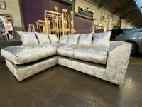 Brand new crushed velvet corner sofa sets😍🔥✅