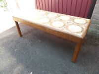 Vintage Retro Tile Top Teak Coffee Table by G PLAN