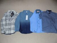 AGE 6-7 - BUNDLE OF 4 SHIRT - 2 BRAND NEW WITH TAGS