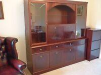 large cabinet with folding liquor shelf