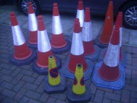 Job lot of road cones