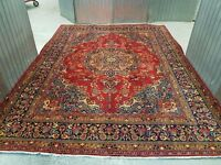 COLLECTABLE MASSIVE ROOM SIZE HAND WOVEN PERSIAN SABZEVAR RUG 390x290 cm