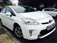 TOYOTA PRIUS 64 REG 2014 PEARL WHITE COLOUR UK CAR NOT IMPORT FULL HISTORY NOT AURIS MERCEDES YARIS