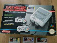 Super nintendo boxed with games