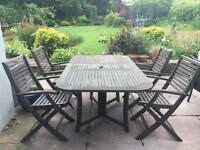 Garden Patio Table and 4 Chairs