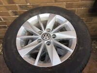 Vw golf alloy wheels n tyres