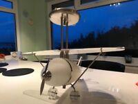 Plane shaped ceiling light for child's room