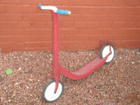 VINTAGE RED TOY SCOOTER - CIRCA 1950'S