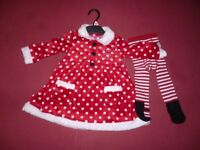 Girls Christmas dress set.