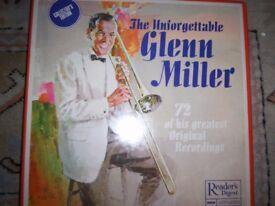 5 Boxed Commemorative Sets of Records of Glenn Miller,Benny Goodman Pristine Condition