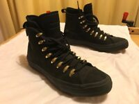 """Unisex waterproof """"Counter Climate"""" Converse Chuck II """"Cute to Boot"""" shoes, black, like new"""