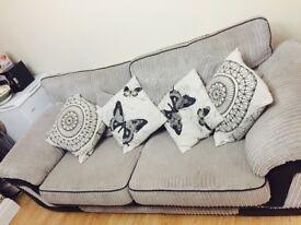 Gorgeous Light Grey 3 Seater Settee