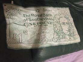 Rare RBS £1 note golf towel