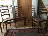 6 ERCOL Ladder Back Dining Chairs in Golden Dawn