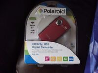 Brand New Bright Red Polaroid USB Camcorder