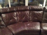 Leather Corner sofa large