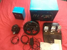 Logitech g29 steering wheel with pedals and shifter ONLY £150