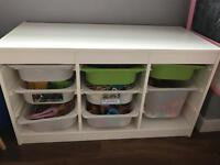 Ikea trofast storage unit Boxes not included