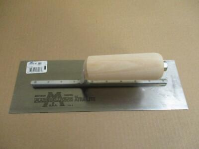 Marshalltown Mx62 Finishing Trowel 12 X 4 Steel Blade Wood Handle Premier Line