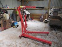 1 Ton Workshop Engine Hoist Crane - Folding on Castors Used Once